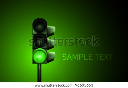 vector traffic lamp design