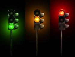 Vector Traffic Lamps