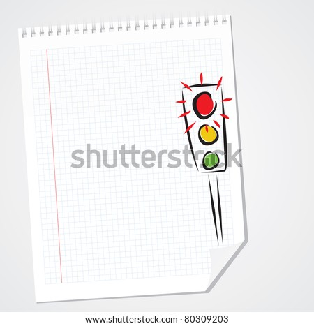 Vector Traffic Light Doodle