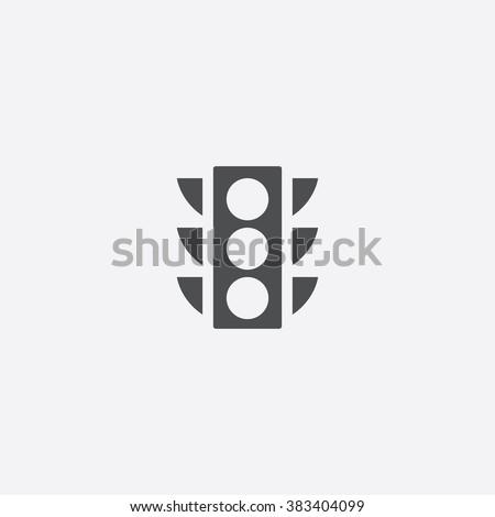 Vector traffic light Icon.