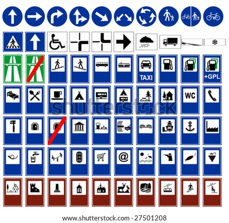 Vector traffic sign collection