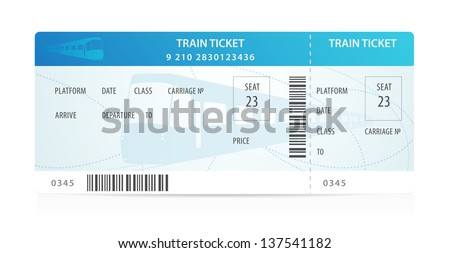 train ticket template word - vector train ticket traveler check template layout