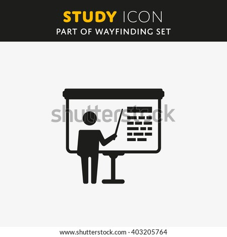Vector Training, presentation icon. Study sign Billboard symbol. Education illustration.