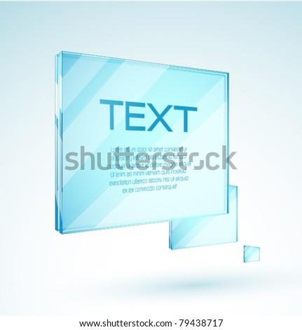 Vector transparent banner
