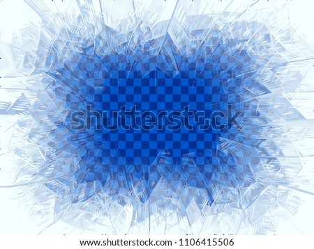 Vector transparent blue frost window. Eps8. RGB. Global colors