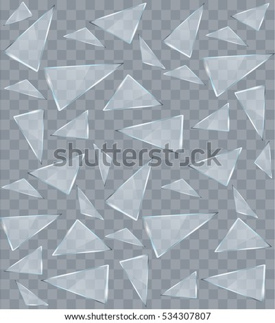vector transparent broken glass