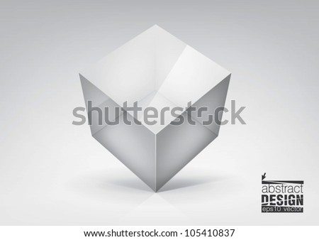 Vector  transparent cube for your  graphic design, you can change colors for the background - stock vector