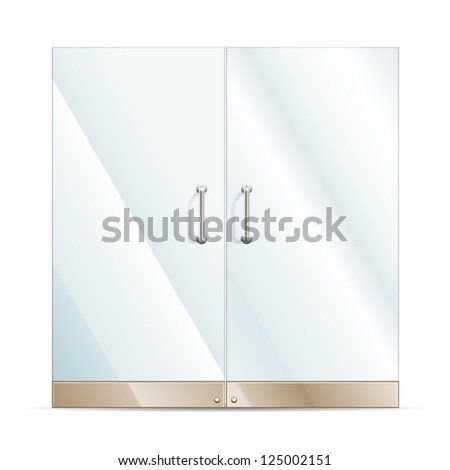 vector transparent glass door