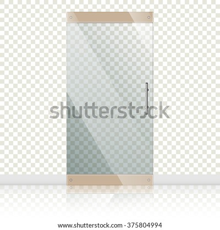 vector transparent glass doors