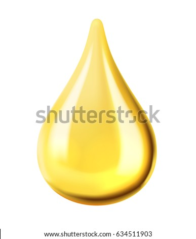 vector transparent oil drop on white background