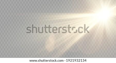 Vector transparent sunlight special lens flare light effect. Foto stock ©