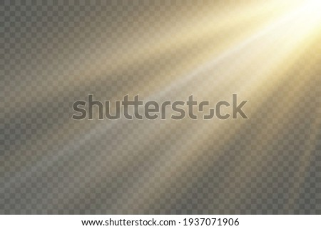 Vector transparent sunlight special lens flash light effect.front sun lens flash. Vector blur in the light of radiance. Element of decor. Foto stock ©