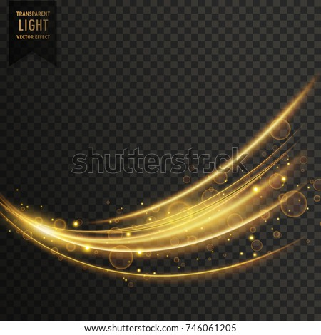 vector transparent wave light effect background in golden color #746061205