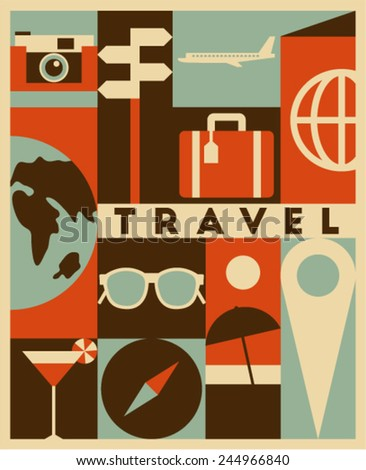 vector travel background