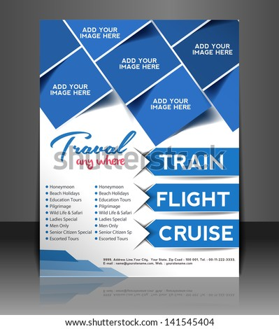 vector travel brochure  flyer