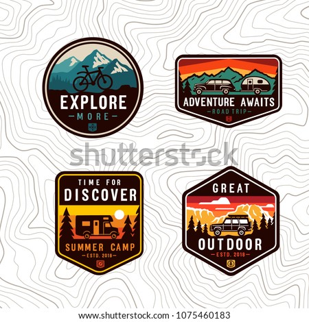 Vector  travel color patch set.