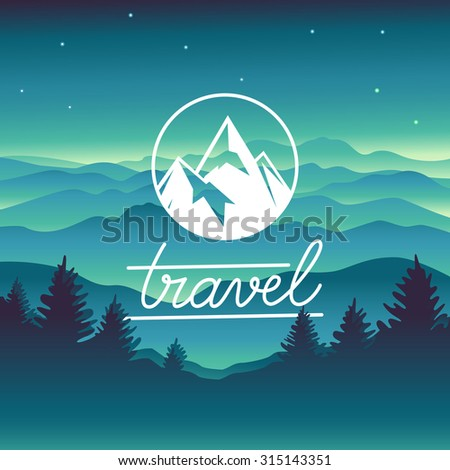 vector travel concept and logo