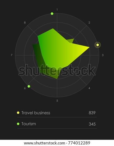 Vector travel navigation design. Vector illustration