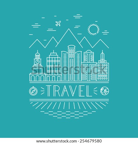 vector travel poster design