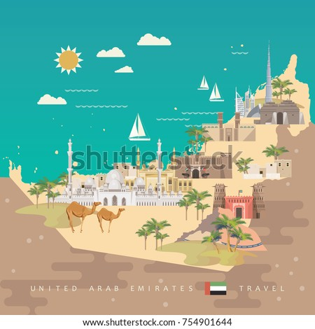 vector travel poster of united