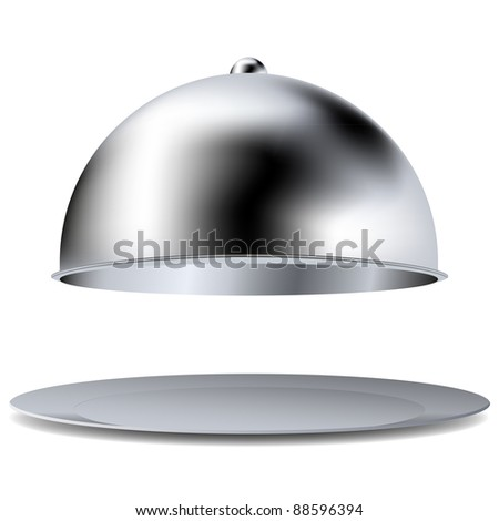 Vector tray isolated on white. Best choice - stock vector