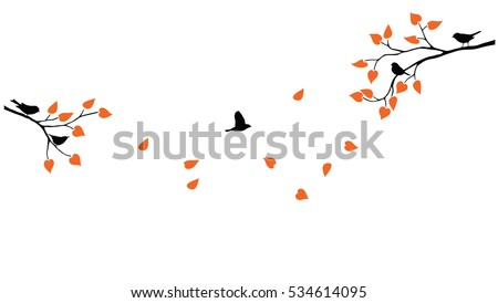 vector tree branches with