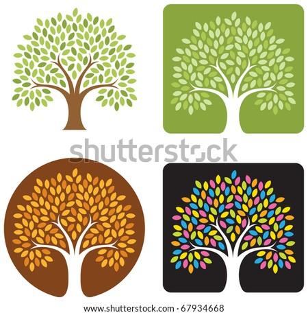 vector tree emblem