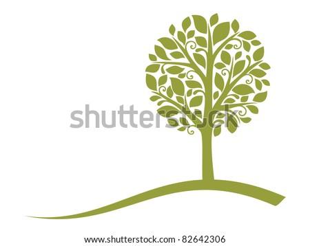 vector tree emblem 4