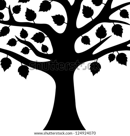 Vector. Tree isolated.