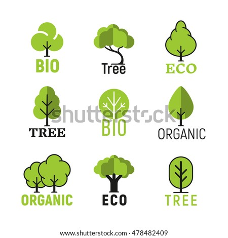 vector tree organic eco bio