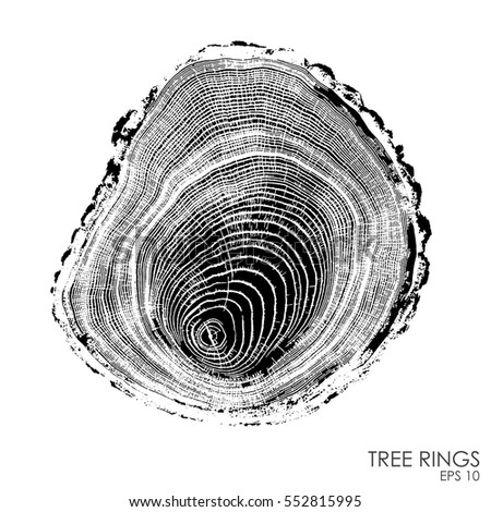 vector tree rings background