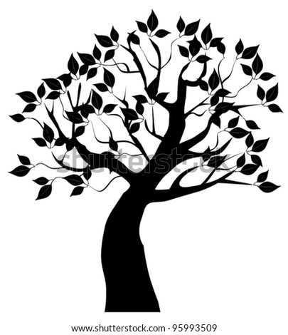 vector tree silhouette with