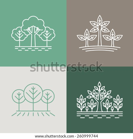 vector trees and parks logo