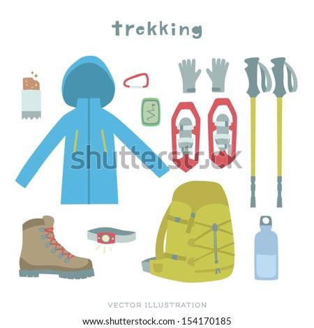 Vector Trekking Gear Illustration
