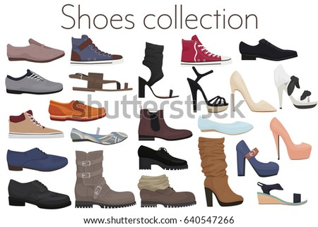 stock-vector-vector-trendy-collection-of-men-s-and-women-s-shoes-fashion-footwear