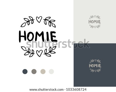 vector trendy hand drawn icon