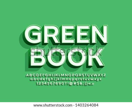 vector trendy logotype green