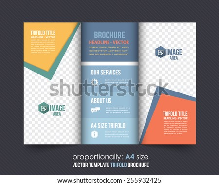 tri fold brochure vector icons download free vector art stock