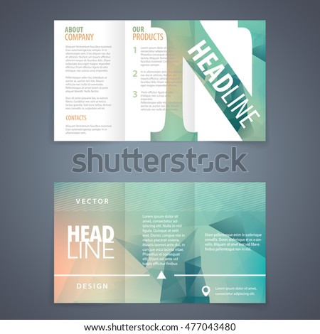 vector tri fold brochure flyer template with modern triangle background and letter n star conceptual scene performance fashionable empty partnership luxurious print concept original advert brochure le Foto stock ©