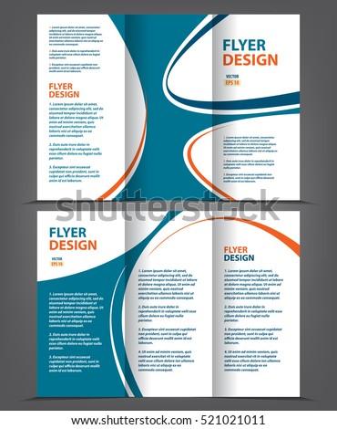 vector empty tri fold brochure print template design trifold bright