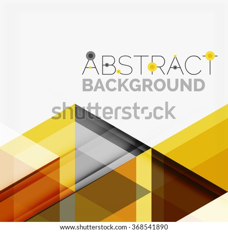 Vector triangle background #368541890
