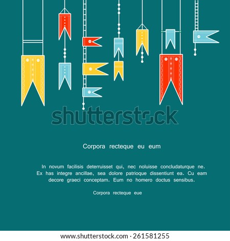 Triangle Decorative Flags Bunting Decorative Flags