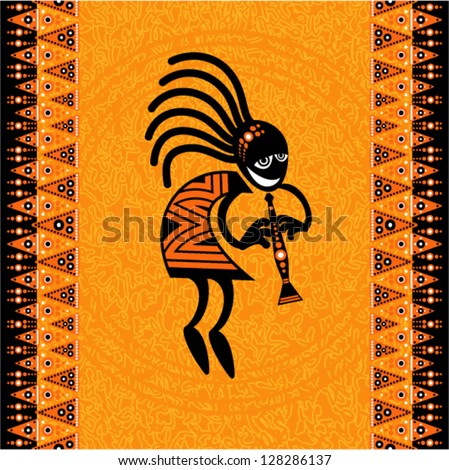 Vector tribal art - Dancing figure