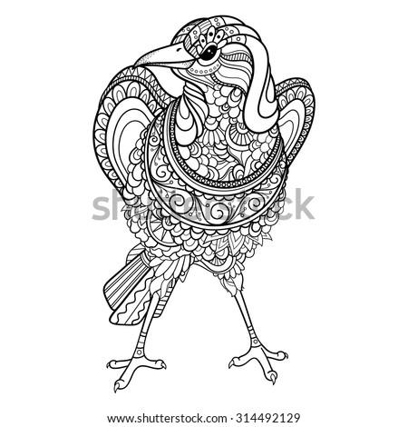 vector tribal decorative magpie