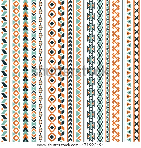 vector tribal ethnic seamless