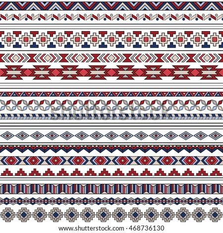 Navajo border designs Mexican Ez Canvas Illustration Of Maori Symbols Pattern Ez Canvas