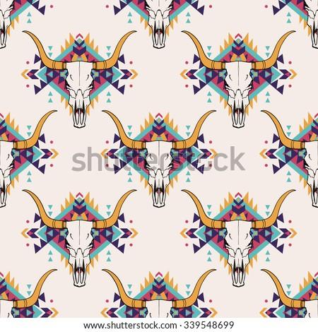 vector tribal seamless pattern