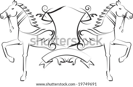 vector tribal tattoo t shirt design horse shield with space for text 19749691 shutterstock. Black Bedroom Furniture Sets. Home Design Ideas