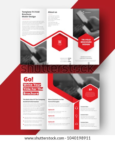 stock-vector-vector-triple-folding-brochure-for-business-and-advertising-the-template-is-white-with-a-red