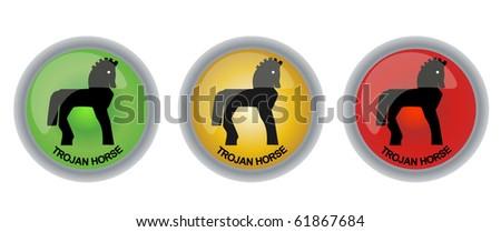 vector trojan virus button